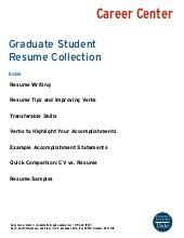 Undergraduate Students Resume Sample Free Samples